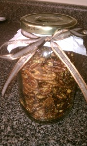 Arlington Darling | Roasted Rosemary Chili Pecans in a jar